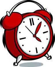 Cartoon Alarm Clock Stock Vector Freeimagescom
