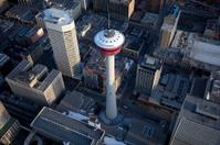 Calgary Tower Aerial View