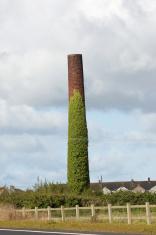 Old brick chimney stack