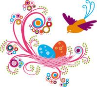 Whimsical Floral Bird's Nest