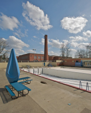 Swimming Pool - Springtime with no people empty