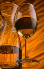 Wineglass  and orange