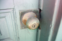 weathered doorknob