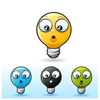 Light bulb character: Shocked