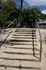 staircase at beach