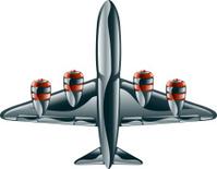 Glossy aeroplane