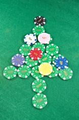 gambling chips christmas tree