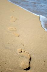 Footsteps into Ocean