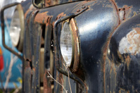 Side View of Rusty Abandoned Truck