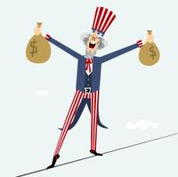 Uncle Sam acrobat