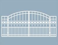 Fancy wrought iron gate