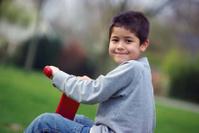 Cute kid on playground