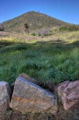 Californian hillside boulders