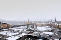 Stockholm in snowfall