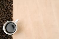 Coffee on grunge paper