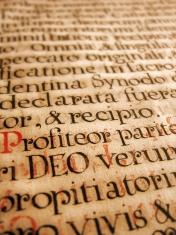ancient latin handwriting