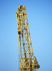 Old yellow crane