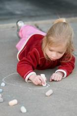 Playing with Sidewalk chalk
