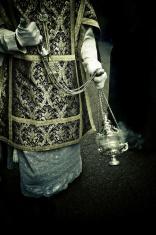 choir boy in holy week