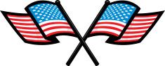 crossed american flags
