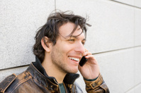 Cool Young Man talking on a Cell Phone
