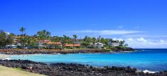 Kauai Hawaii beach front resort  panorama