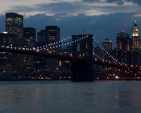 Brooklyn Bridge as Evening Falls