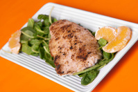 Almond Crusted Trout with Orange