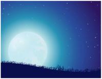Starry Night Full Moon
