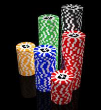Casino Chips on black