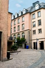 Beautiful scenic street in Luxembourg.