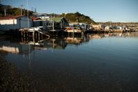 Boat sheds on Porirua Harbour, Titahi Bay, Wellington