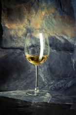 White wine on a rock