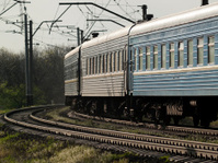 Train on curve
