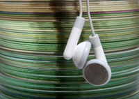 CD's with headphones
