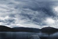 Jetty on Rotoiti lake, New Zealand