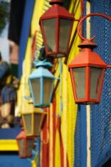 Colorful Lanterns of La Boca Neighborhood Buenos Aires