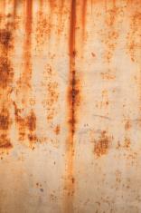 rust on white
