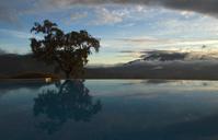 sun rise at a swimmingpool