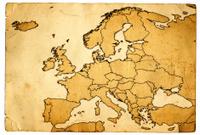 Grunge Map of Europe