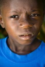 Grimacing African Child