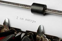 Vintage Typewriter Sentence: I am sorry.