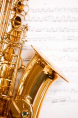 Dreamy saxophone on music