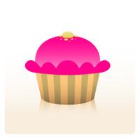 Vector Cherry Cupcake