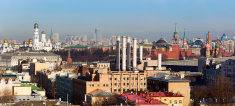 Panorama with the most famous buildings of Moscow  (XXXL)