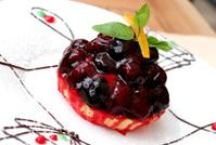 pie with blackberry