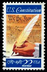 Postage Stamp (Canceled) Commemorating The U.S. Constitution HUG