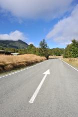 forward arrow on the highway
