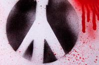 Peace Symbol In Blood