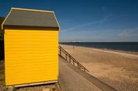 Yellow hut on the beach
